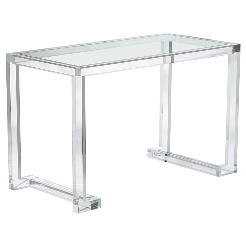 Interlude Ava Hollywood Regency Modern Acrylic Small Desk - 48W