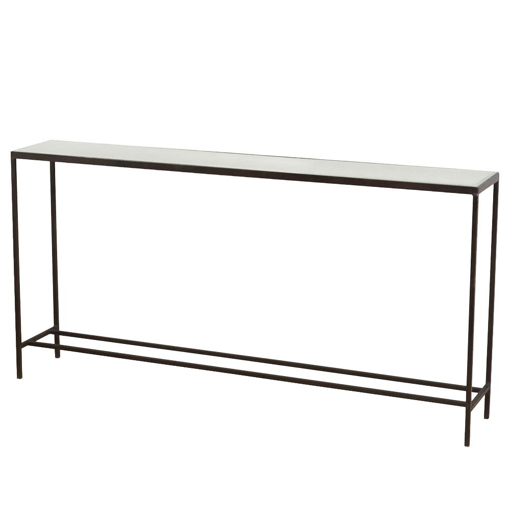 Howard Modern Thin Mirrored Wide Console Table Kathy Kuo