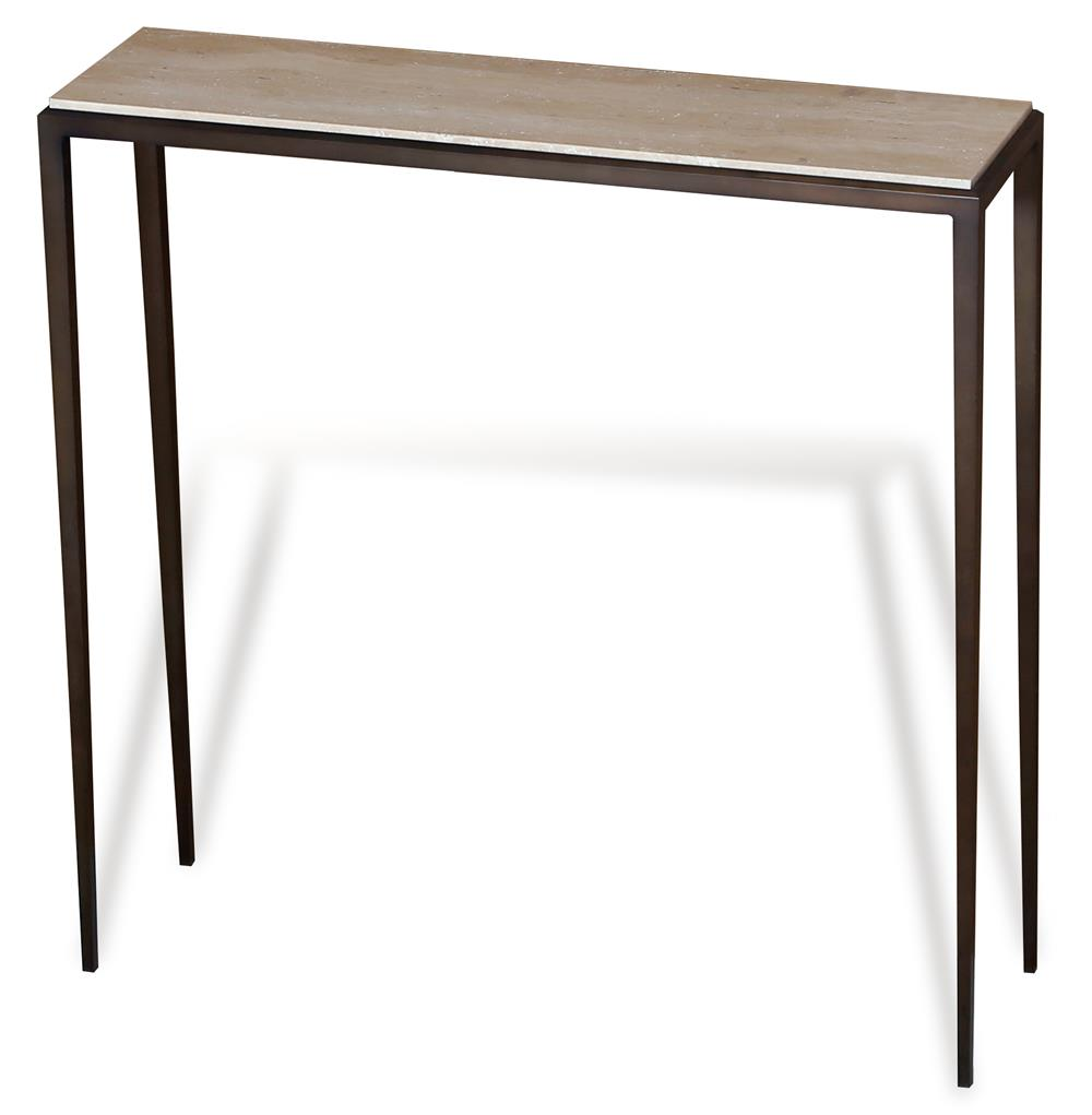 Morell modern cream travertine console table 35 w for 35 console table