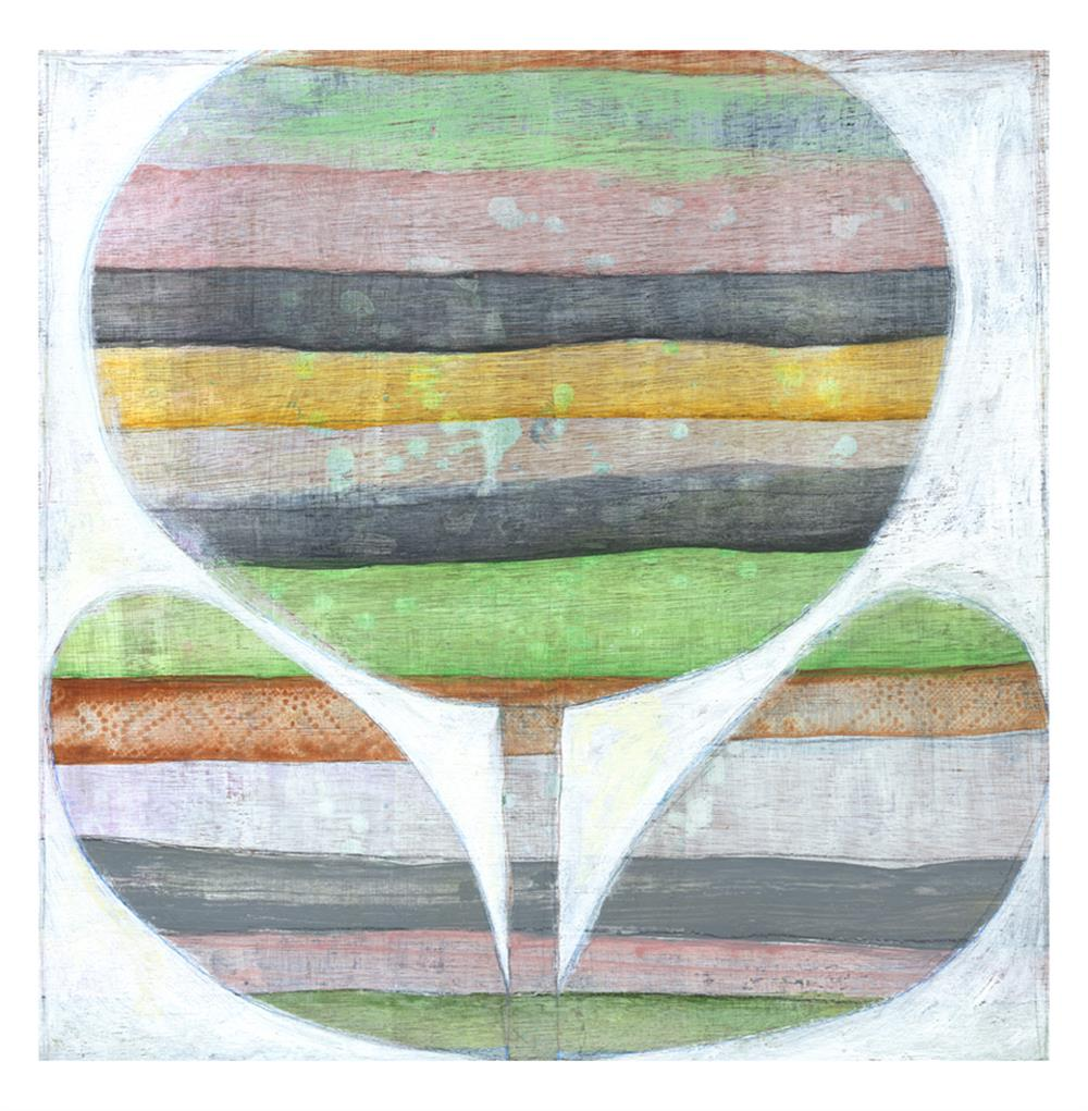 Emersons Grey Pink Green Orange Flower Wall Art 24x24 Kathy Kuo Home