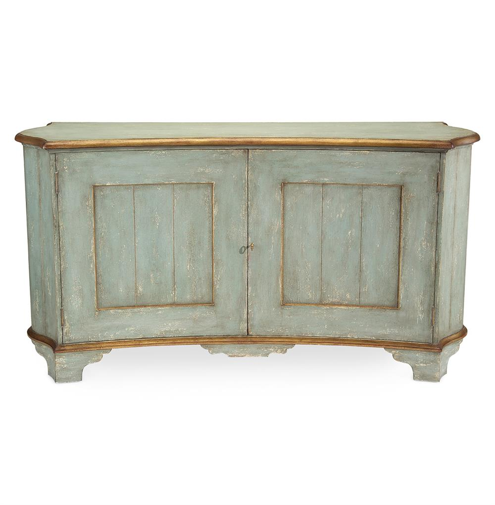 claude french country light blue gold gilded buffet. Black Bedroom Furniture Sets. Home Design Ideas