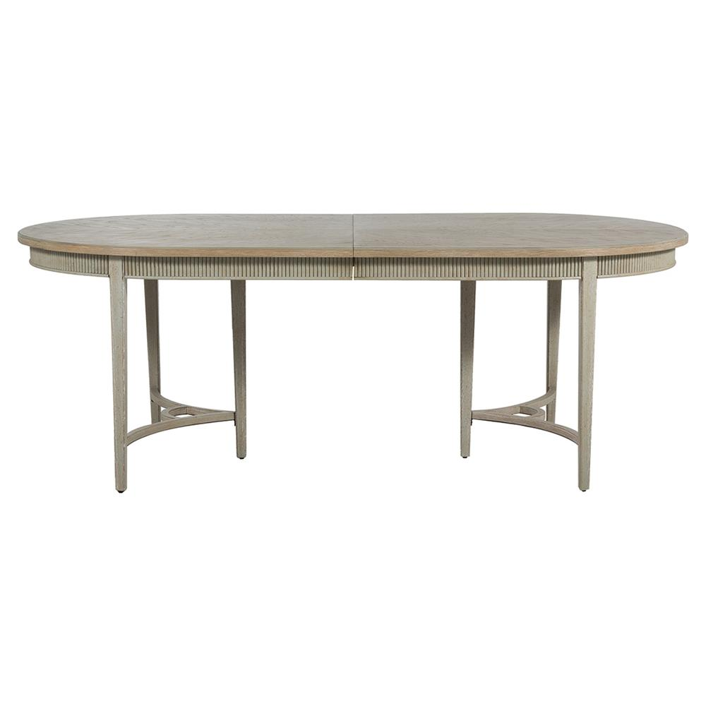 Whitlock french country 1 leaf extendable oak dining table kathy kuo home - Oak extendable dining table ...