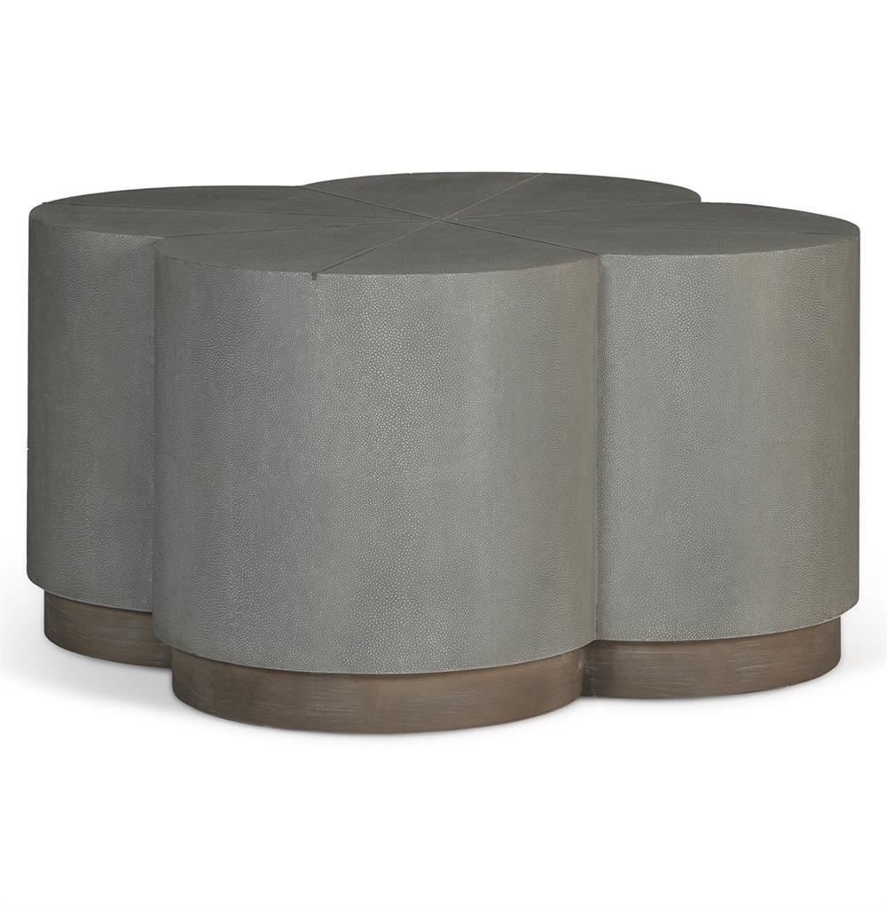 Robinson Industrial Loft Grey Shagreen Ottoman Coffee Table Kathy Kuo Home