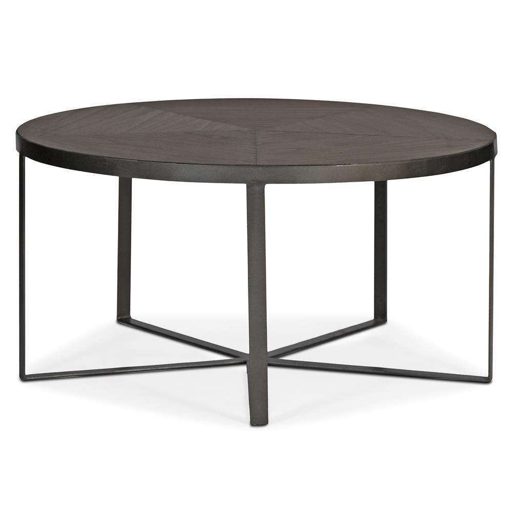 Rollins Industrial Loft Bronze Iron Coffee Table: Michael Industrial Loft Mindy Wood Iron Coffee Table