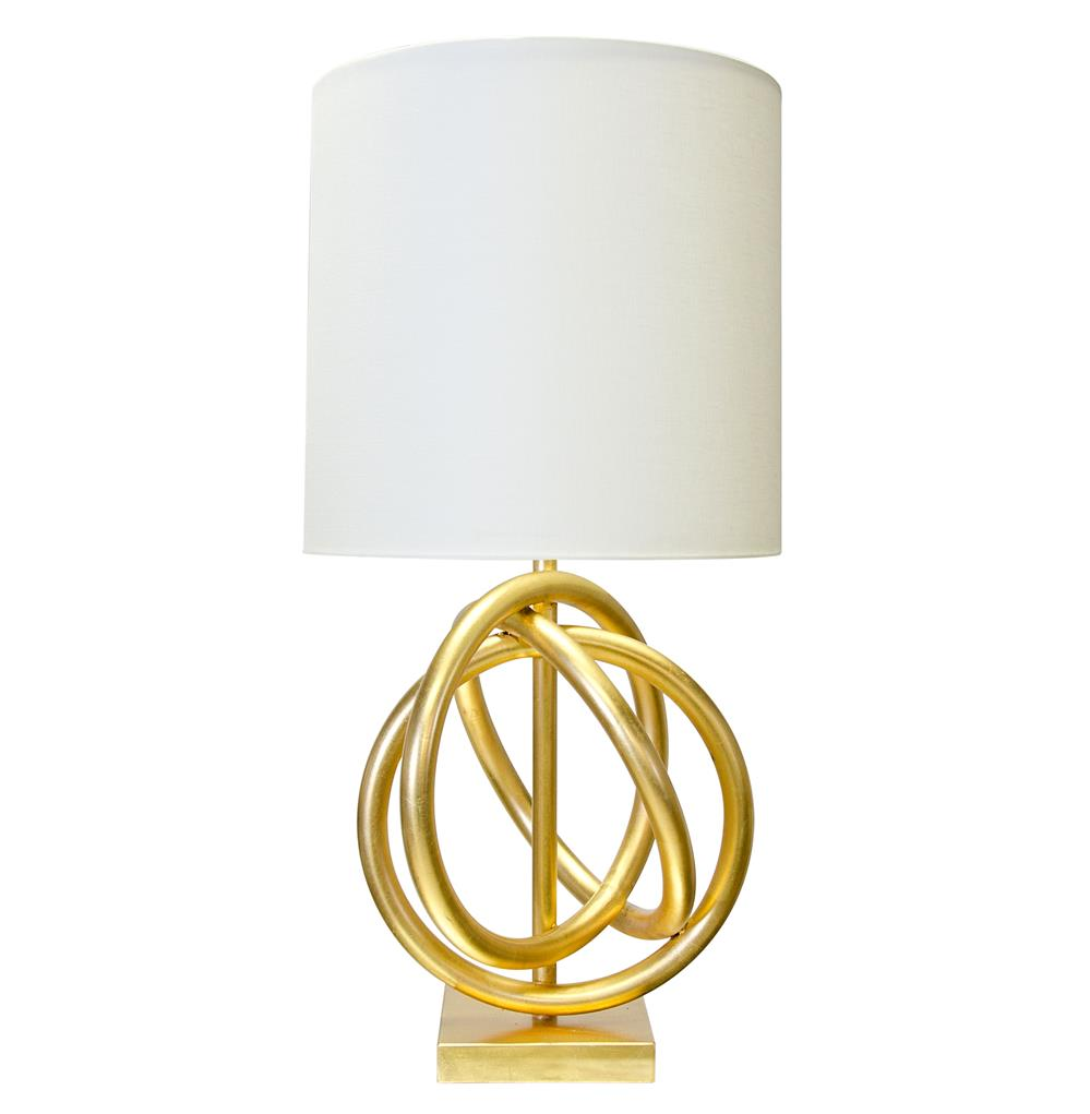 trinity hollywood regency gold ring white table lamp. Black Bedroom Furniture Sets. Home Design Ideas