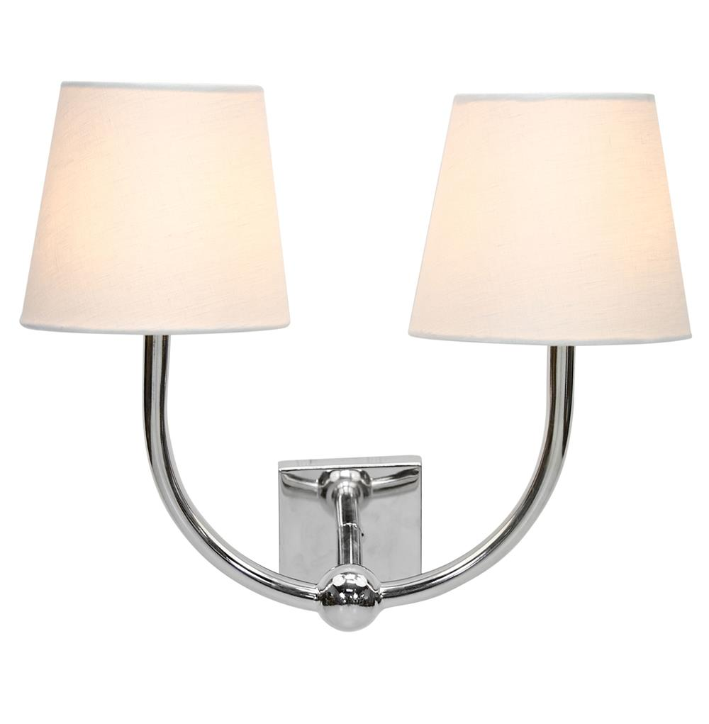 Damon Hollywood Regency Silver Double Wall Sconce Kathy Kuo Home
