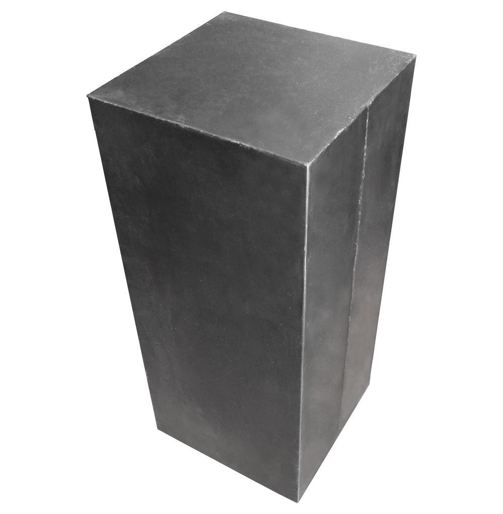 Hollow Raw Steel Industrial Loft Display Pedestal Stands