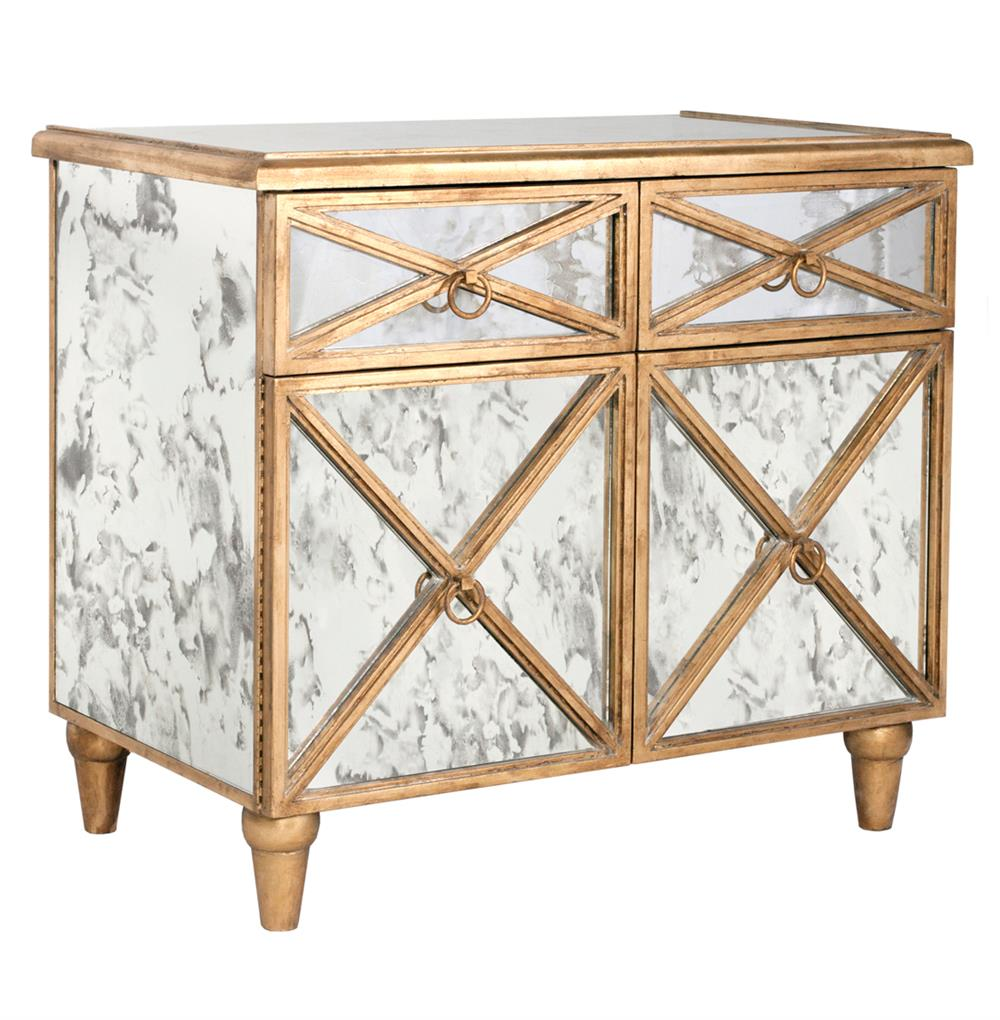Ritz Hollywood Regency Antique Mirror Gold Crosshatch Bar Cabinet | Kathy  Kuo Home ... - Ritz Hollywood Regency Antique Mirror Gold Crosshatch Bar Cabinet