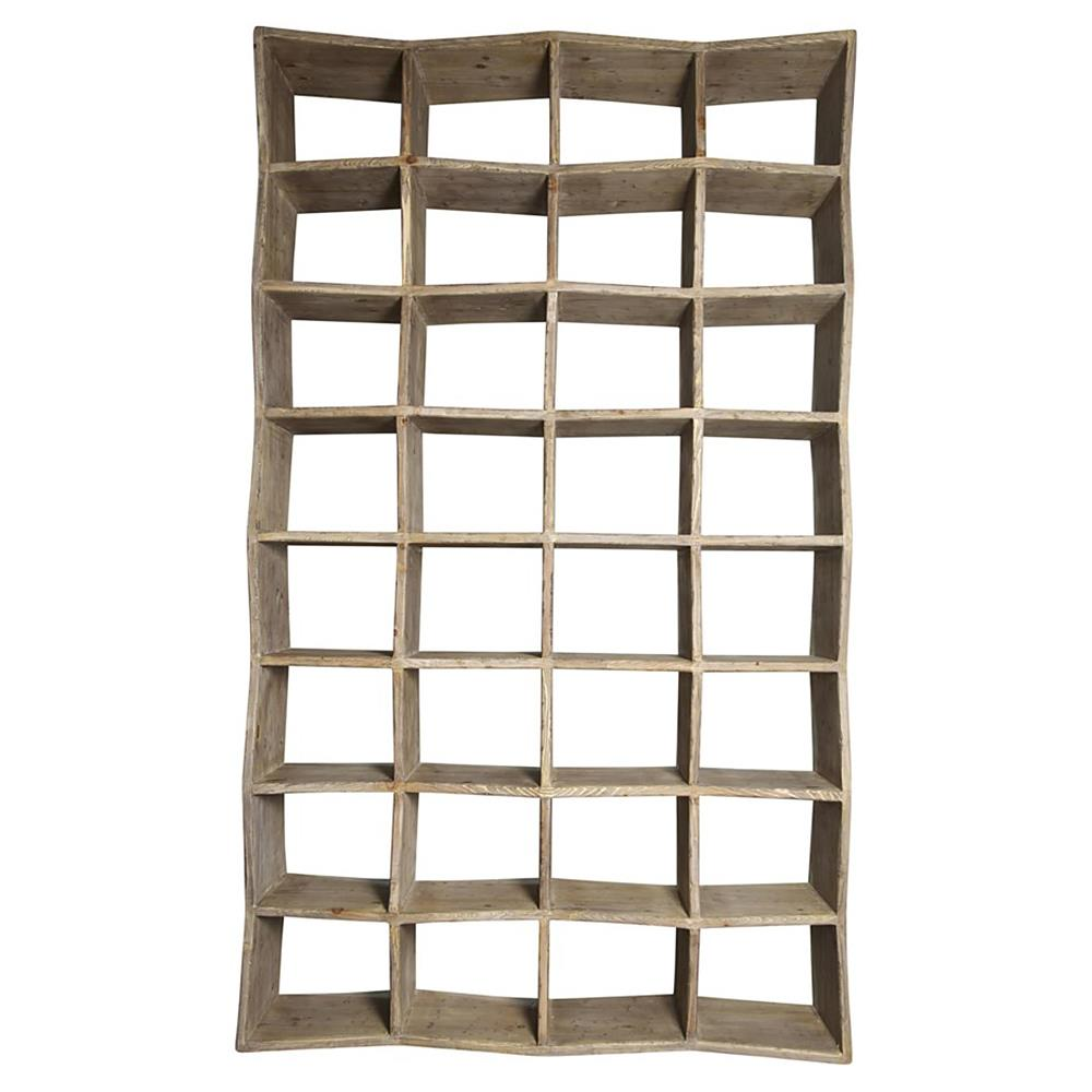 Millbrook Modern Rustic Raw Wood Industrial Style Cube Bookcase ...