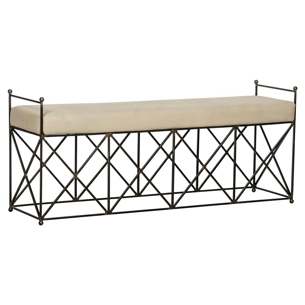 30 Eye Catching Entryway Benches For Your Home: Ashford Metal Linen Industrial Loft Bench