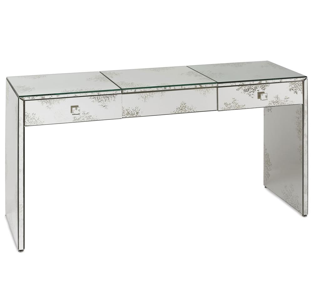 Superior Sabina Antique Mirror Hollywood Regency Vanity Console Table | Kathy Kuo  Home