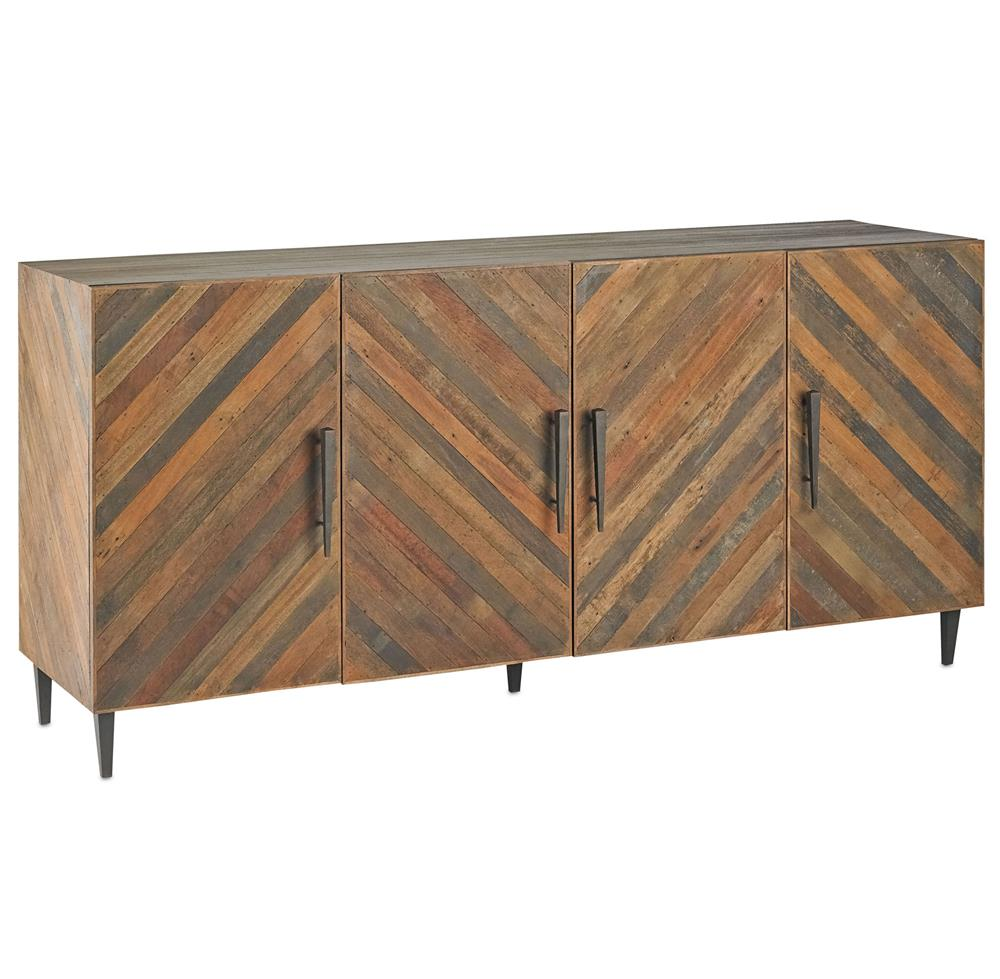 ... Mid Century Lodge Reclaimed Wood Credenza Sideboard | Kathy Kuo Home