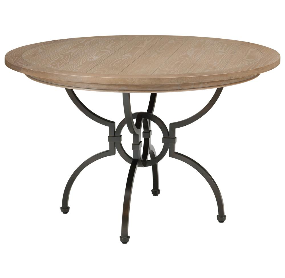 hilda modern bronze limed grey pedestal round dining table kathy kuo home. Black Bedroom Furniture Sets. Home Design Ideas