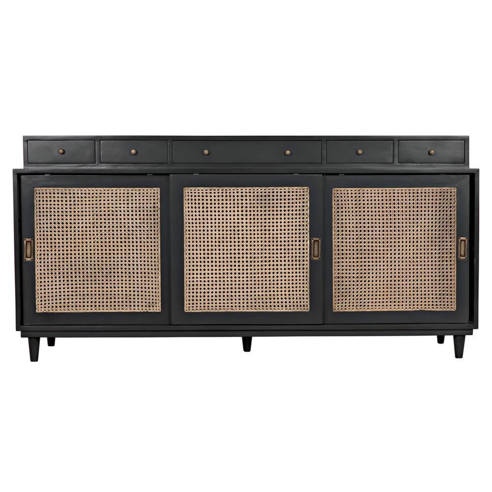 Malai global bazaar modern mahogany rattan sideboard for Sideboard rattan
