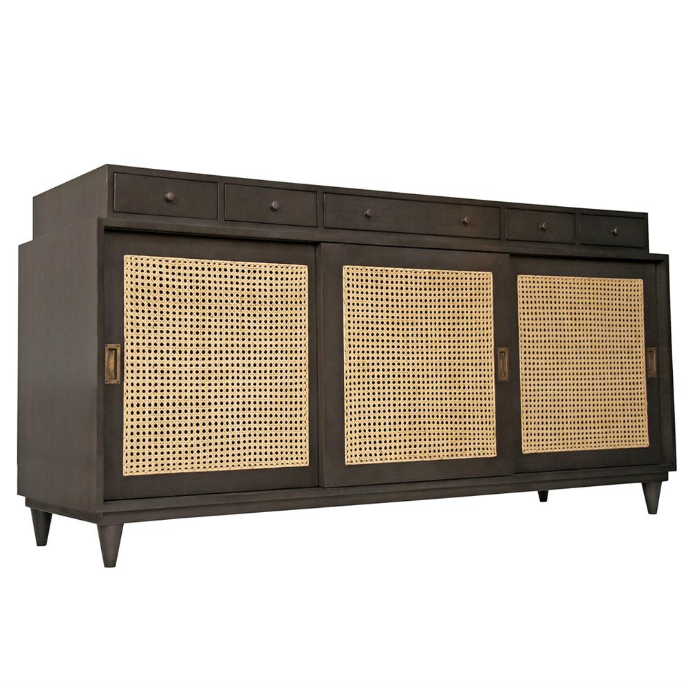 malai global bazaar modern mahogany rattan sideboard. Black Bedroom Furniture Sets. Home Design Ideas