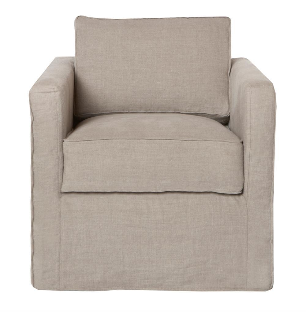 Cisco brothers vista modern classic slip cover natural for Modern armchair covers