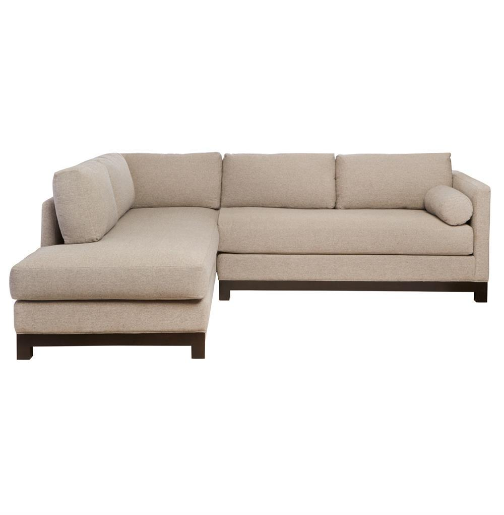 Cisco Brothers Cosmo Modern Natural Linen Sofa Sectional Left Arm Facing 100x84 Kathy Kuo Home