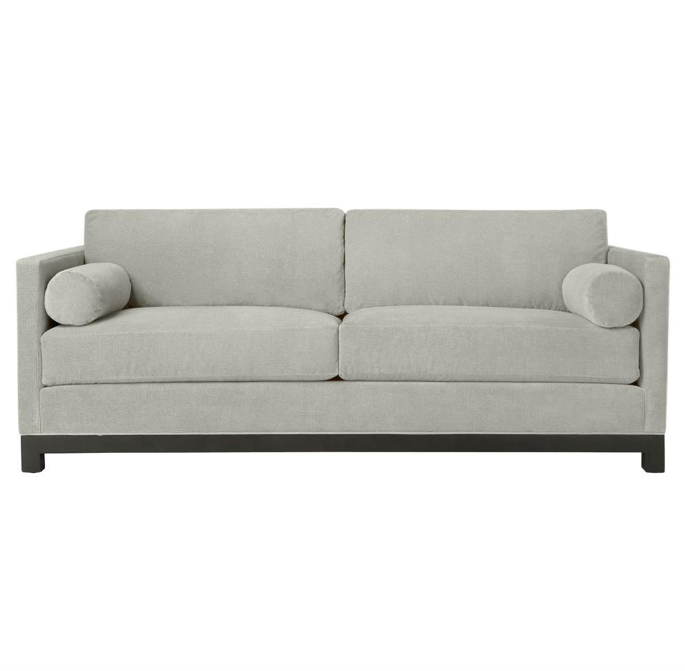 cosmo modern classic silver grey linen tailored sofa 84