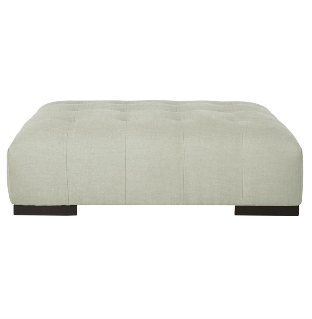 Cisco Brothers Arden Modern Classic Tufted Grey Silver Rectangle Coffee Table Ottoman Kathy