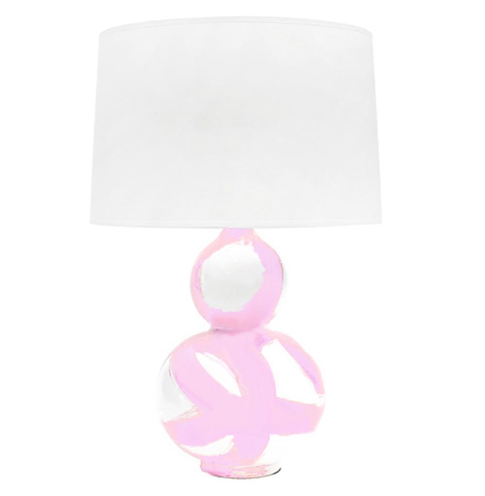 Hailey hand painted gourd shape brushstroke blush pink table lamp hailey hand painted gourd shape brushstroke blush pink table lamp kathy kuo home geotapseo Gallery