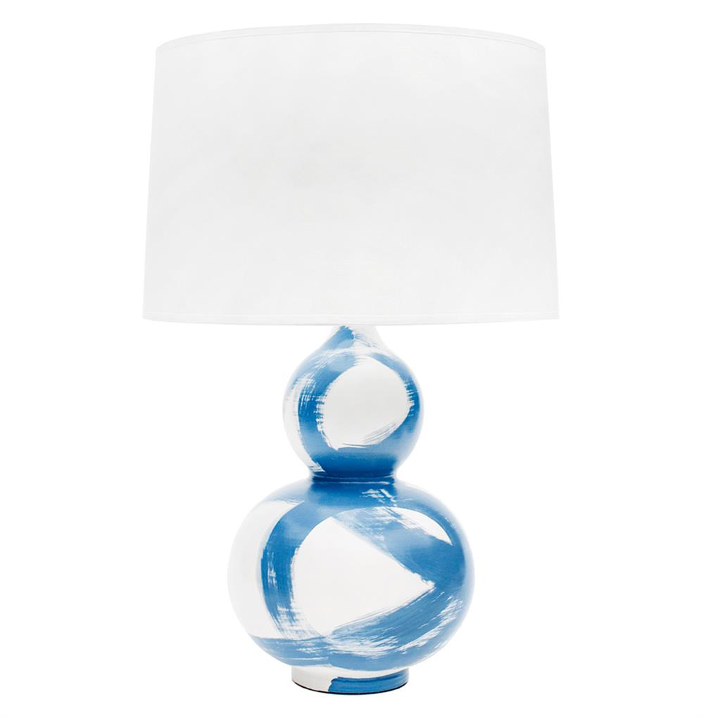 Hailey hand painted gourd shape brushstroke wedgewood blue table lamp hailey hand painted gourd shape brushstroke wedgewood blue table lamp kathy kuo home aloadofball Choice Image