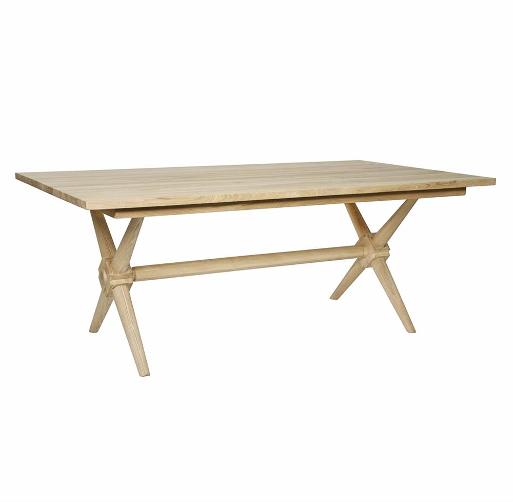 Dining Tables Nolan Industrial Loft X Leg Elm Dining Table