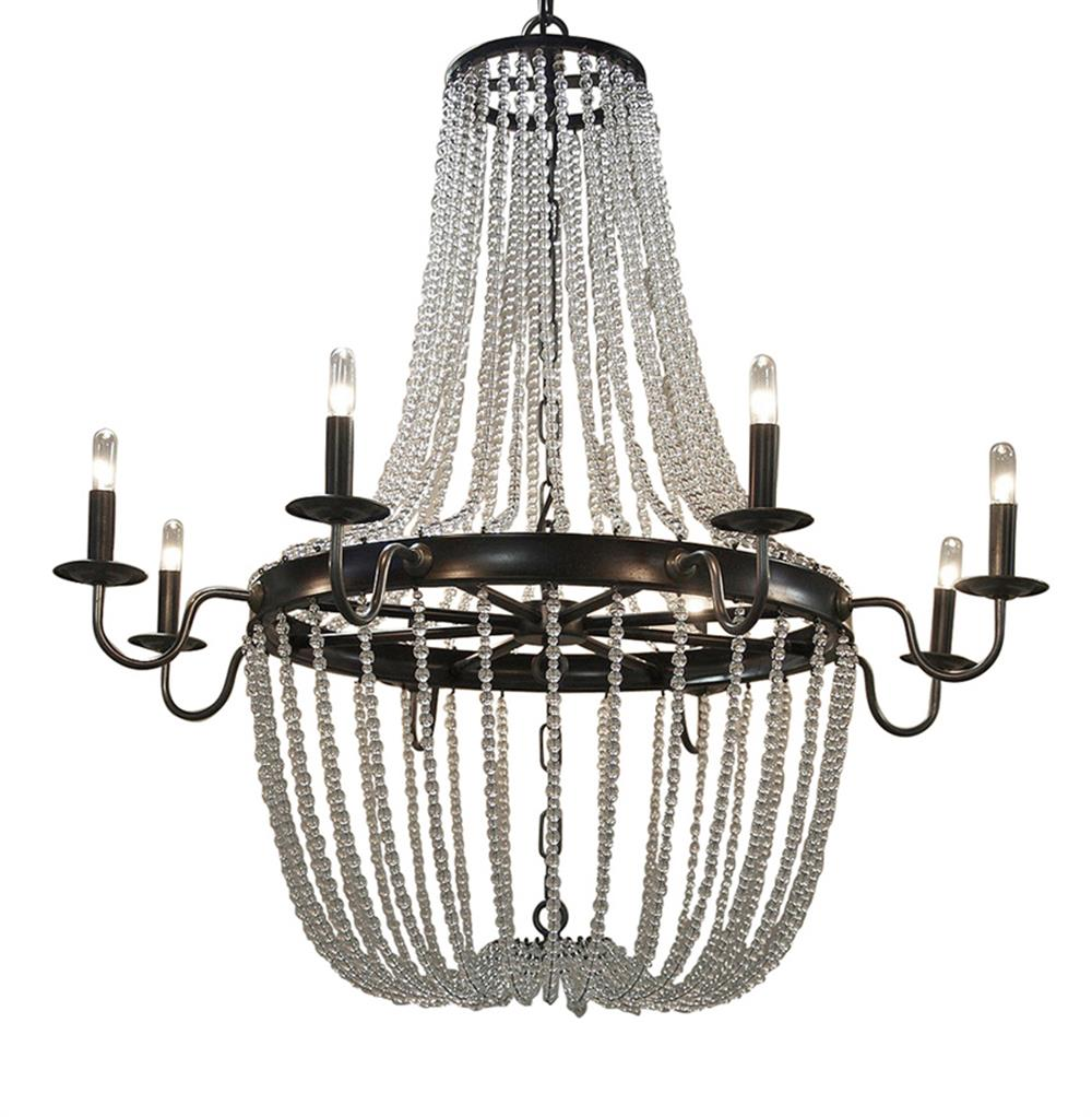 Esteban global bazaar metal glass bead chandelier kathy kuo home - Chandelier glass beads ...