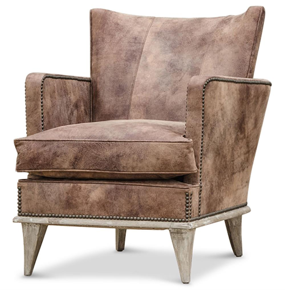 ashville cigar bar masculine solid accent arm chair  kathy kuo home -