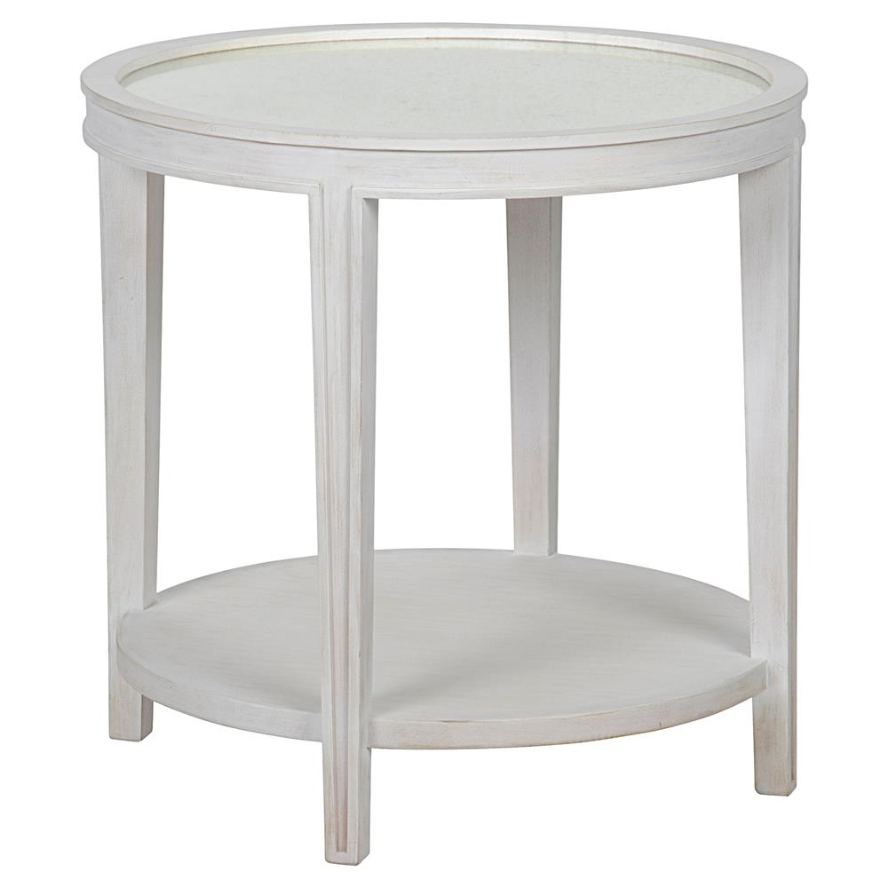 Superb Sita French Country White Washed Antique Mirror Side Table | Kathy Kuo Home Great Ideas