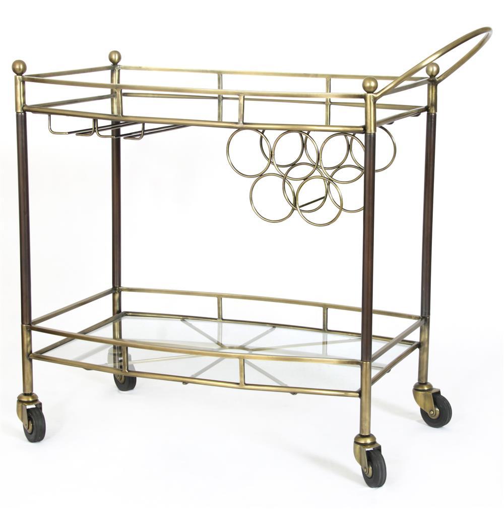 diana hollywood regency glass antique brass bar cart. Black Bedroom Furniture Sets. Home Design Ideas