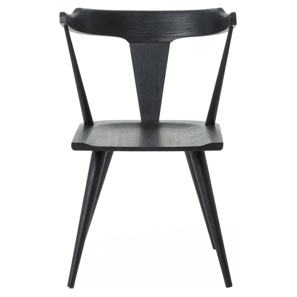 Midcentury Modern Dining Chairs: Tenly Mid Century Modern Black Oak Barrel Back Dining