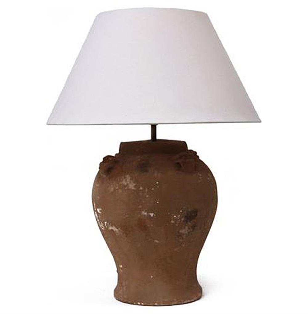 Ada Modern Rustic Terracotta French Cottage Style Table Lamp