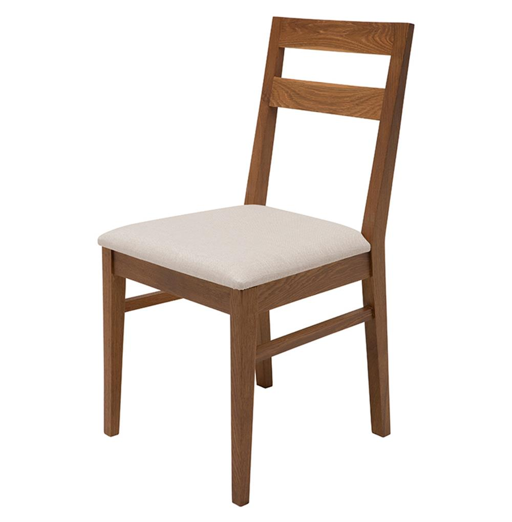 Caldor mid century solid french white oak dining chair for Oak dining chairs