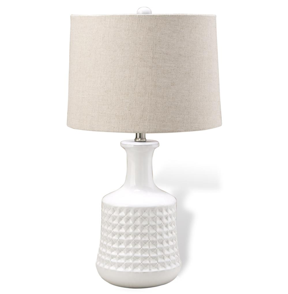 greyton coastal beach white ceramic beige shade table lamps set