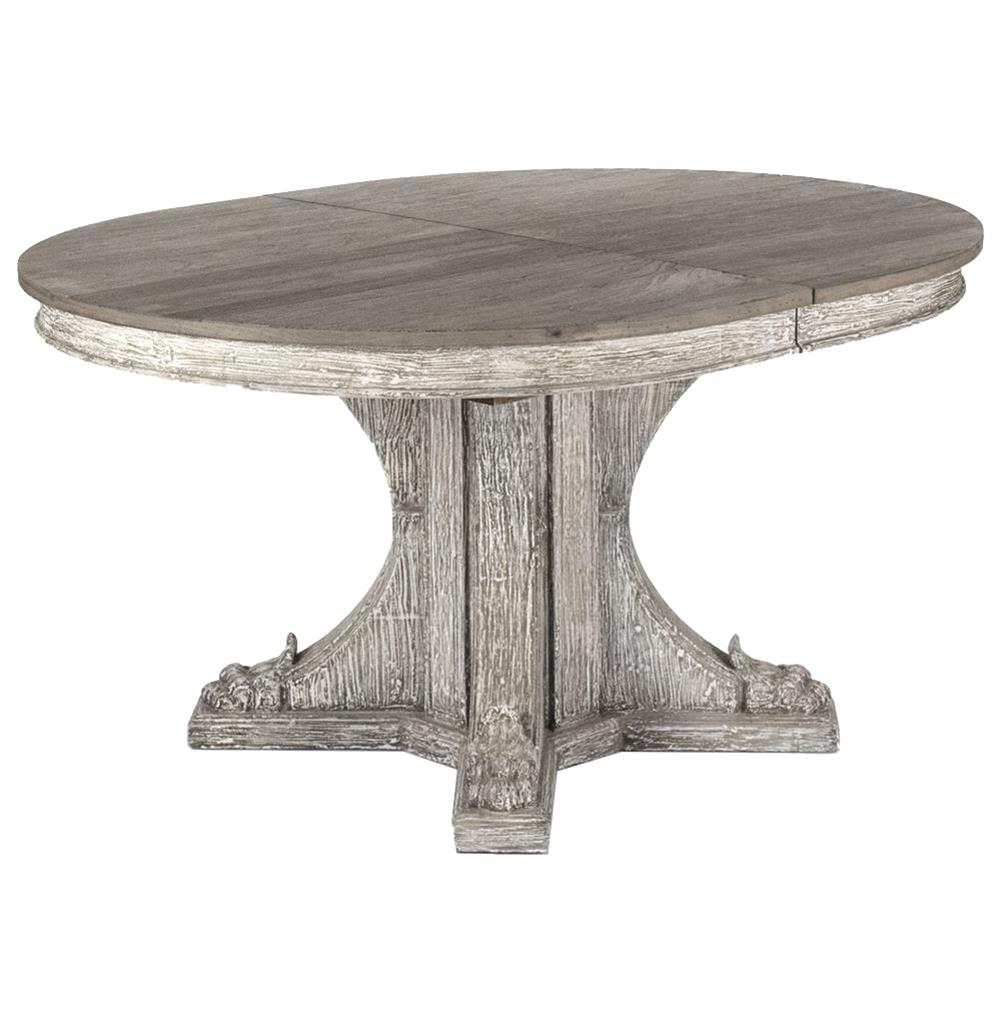 Rustic Oval Dining Room Table agnes french country rustic oval extendable dining table | kathy