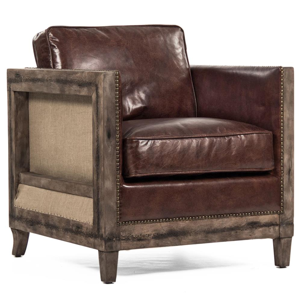 Beck Industrial Rustic Lodge Masculine Squarebrown Leather
