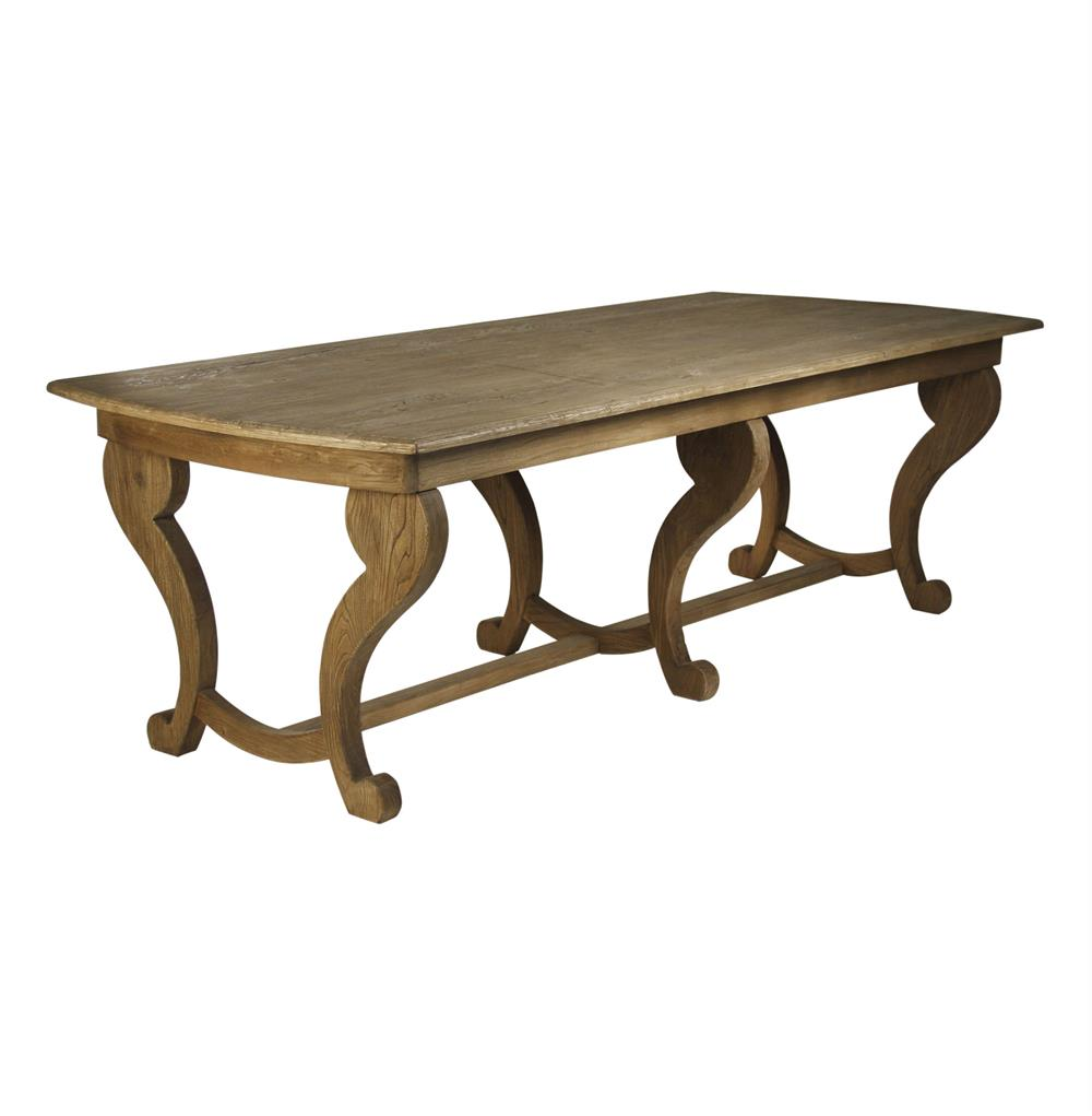 French country louis style leeds dining table kathy kuo home for Country style dining table