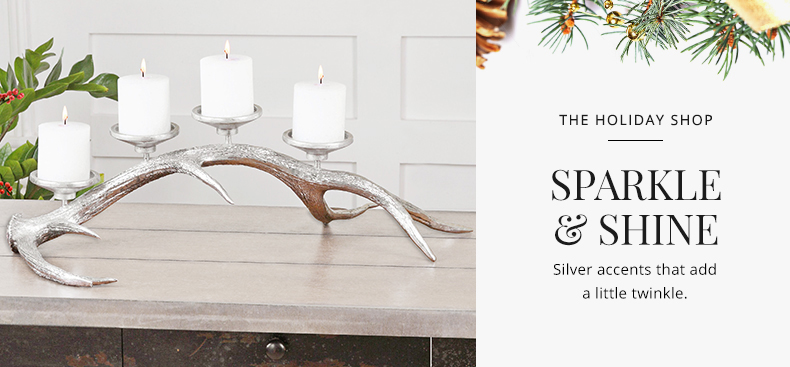 The Holiday Shop - Silver Sparkle | Kathy Kuo Home