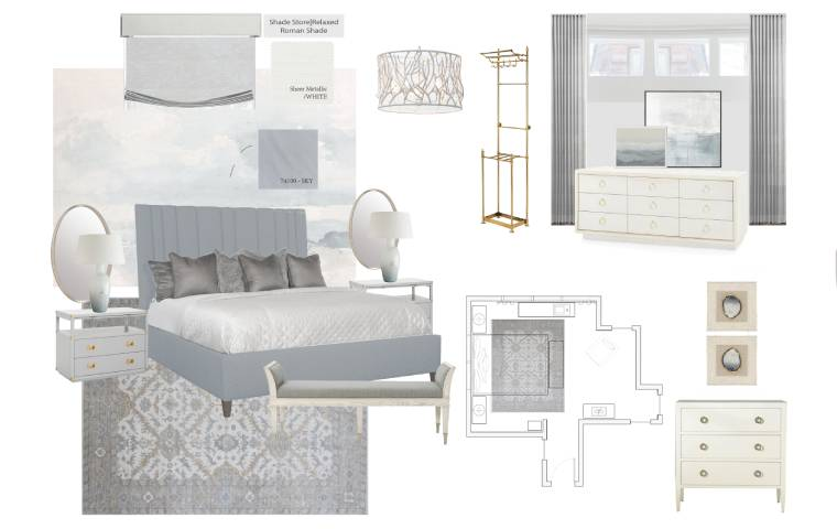 Transitional Bedroom | Kathy Kuo Home