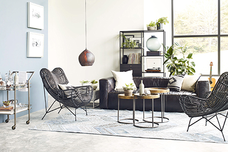 Industrial Living Room | Kathy Kuo Home