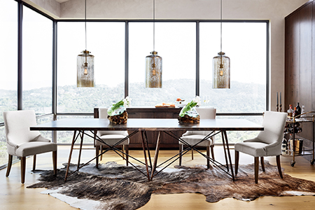Industrial Style Dining Room | Kathy Kuo Home