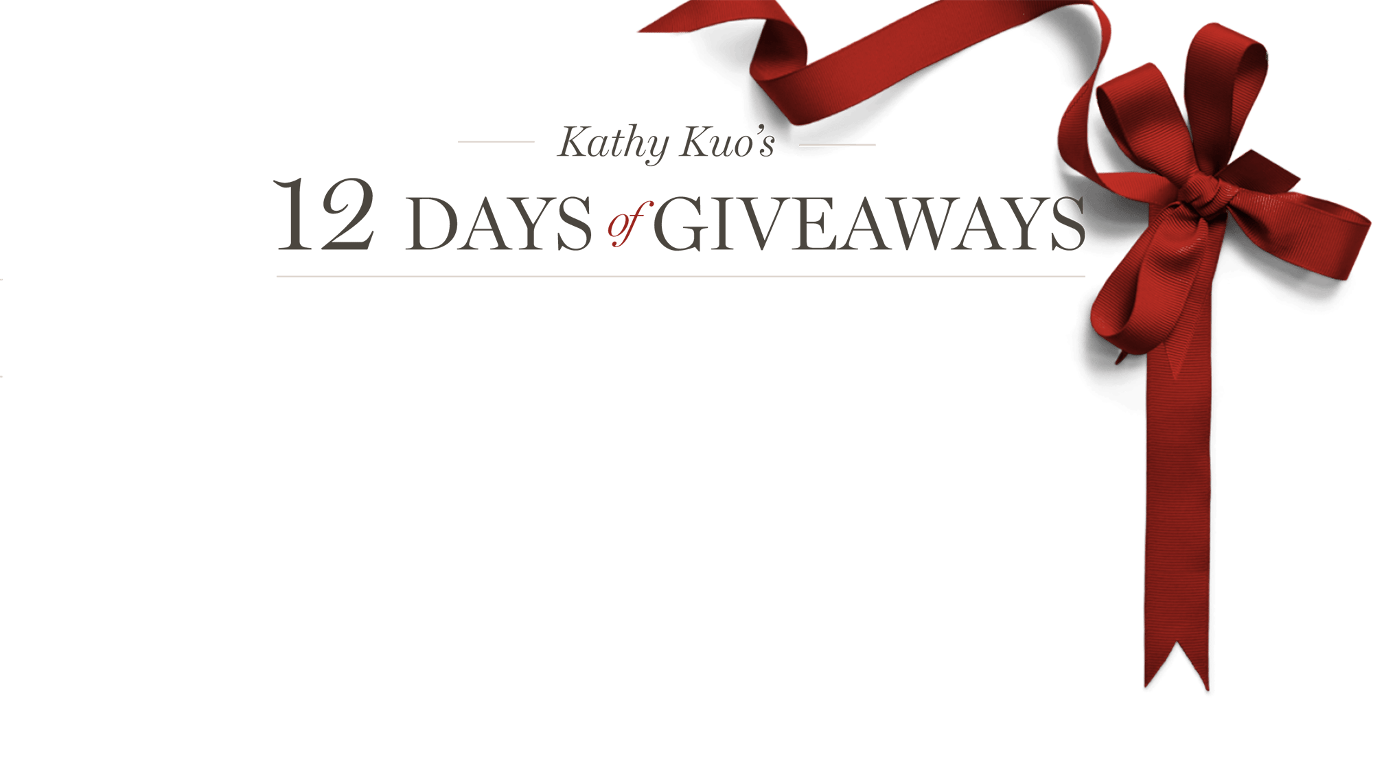 12 Days of Giveaway