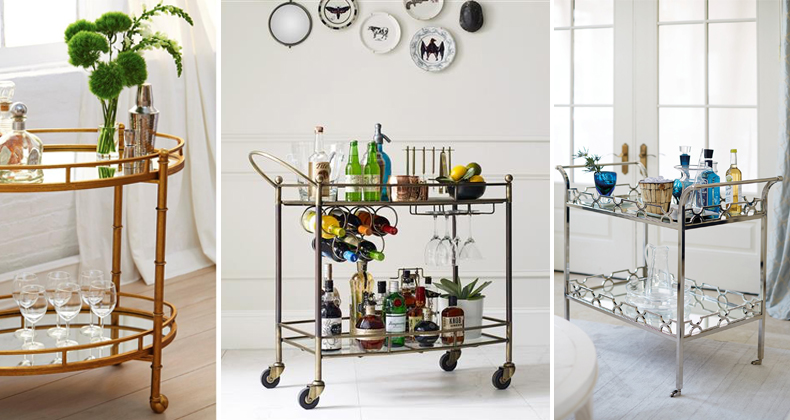 Bar Cart Essentials | Kathy Kuo Home