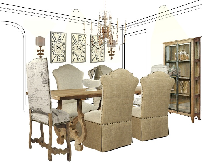 . DINING IN CASUAL ELEGANCE  FRENCH COUNTRY STYLE DINING ROOM