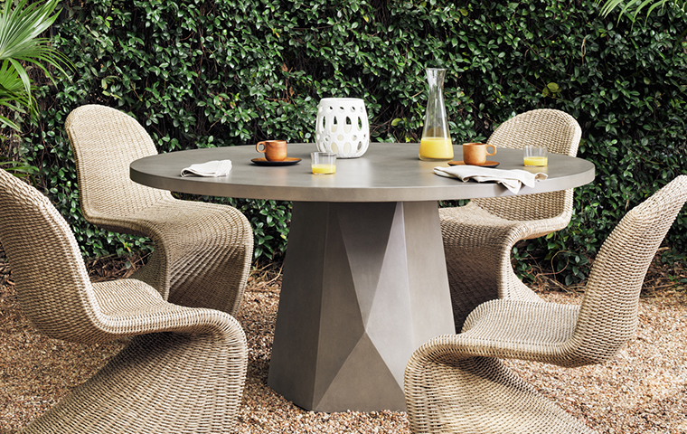 Concrete Outdoor Furniture | Kathy Kuo Home