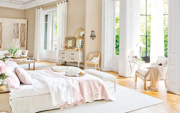 French Feminine Bedroom | Kathy Kuo Home