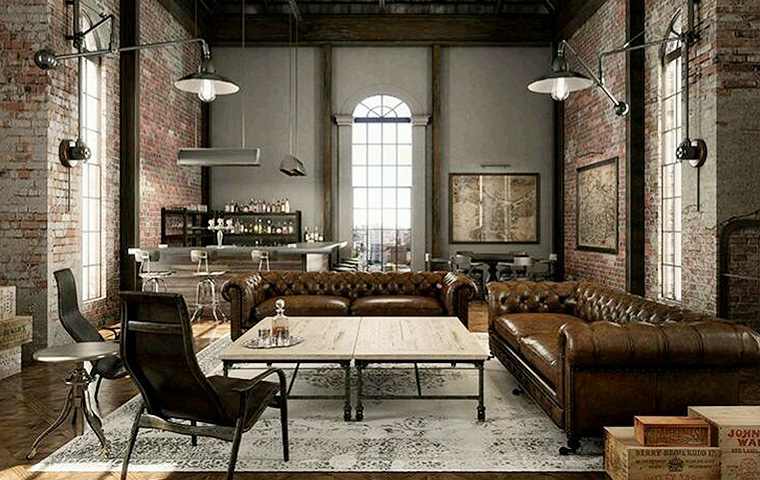 Industrial style furniture kathy kuo home for Industrial style homes