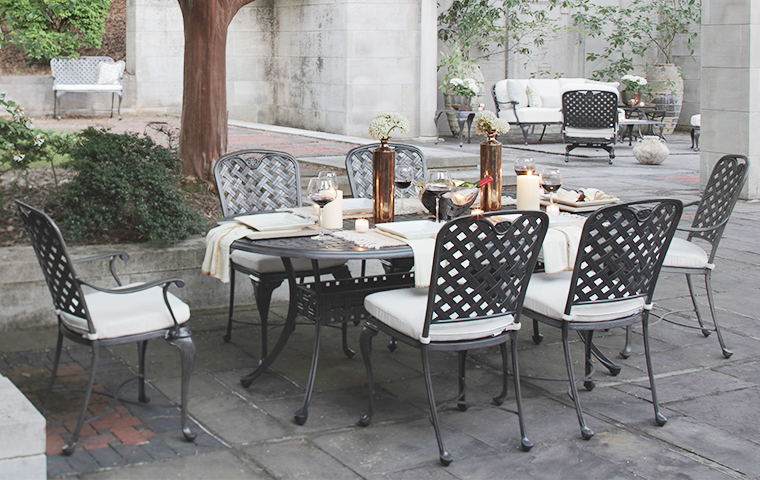 Outdoor Iron Furniture | Kathy Kuo Home