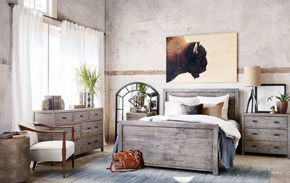 Masculine Bedroom | Kathy Kuo Home