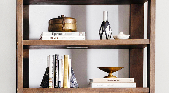 Spring Shelf Styling | Kathy Kuo Home